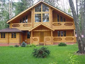 Рисунок дом из оцилиндрованного бревна фото