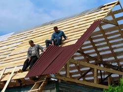 Фото: Крыша из ондулина своими руками