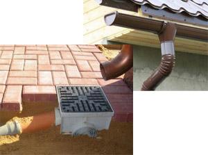Фото: монтаж ливневой канализации