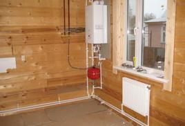 Фото: отопление в деревянном доме