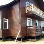 Фото: Дом отделанный имитацие бруса №2