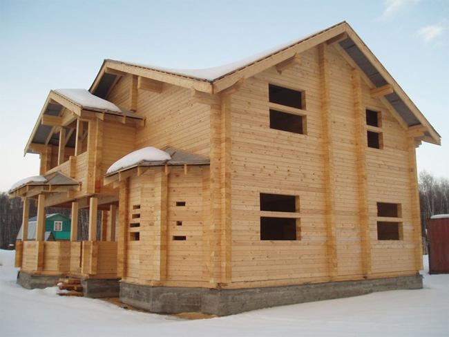 фото: строительство дома из бруса в иркутске