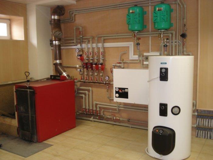фото: схема подключения электрического котла отопления