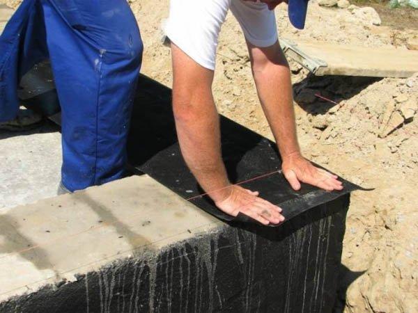фото:гидроизоляция горизонтальная фундамента