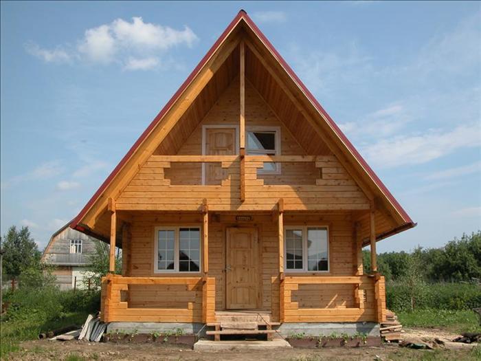 Фото Дом из бруса размеры 6 метров на 6 метров